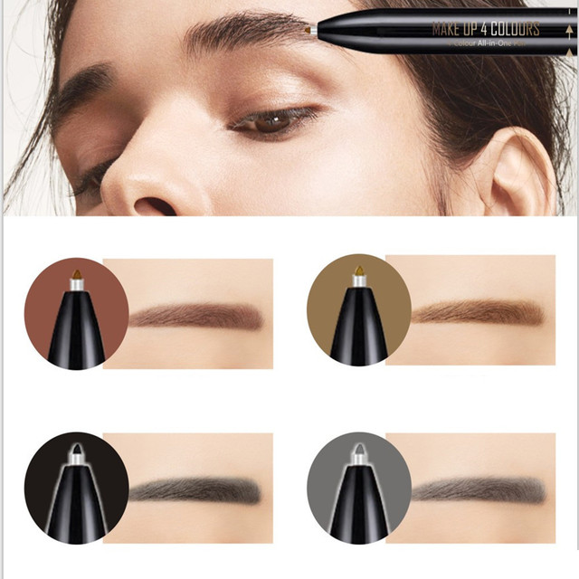4 in 1 Waterproof Eyebrow Pen