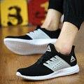 Горячие продажи Мужчины воздуха Сетки повседневная обувь серый черный обуви zapatillas deportivas hombre спортивные повышения работает мужчин корзина обувь