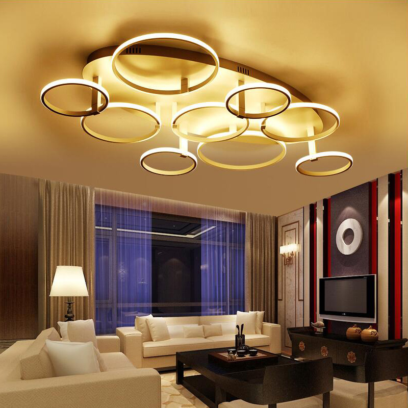 Luxury New Style Acrylic Ceiling Lights Remote Control LED Ceiling Lamp For  Living Room Bedroom Home Lights Fixture