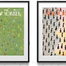 Vintage cartel gigante pintura en lienzo arte moderno para el hogar impresiones figuras dibujos animados funda The New Yorker-septiembre 20,1969