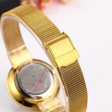 Miss Fox Women Watches Minimalist Super Slim Dw Simple Watch Women Stainless Steel Ladies Gold Watch Waterproof For Female Clock