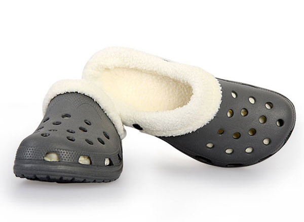0289a5bf32cf Slip on Warm Grey Dark Blue Men s Furry Slippers