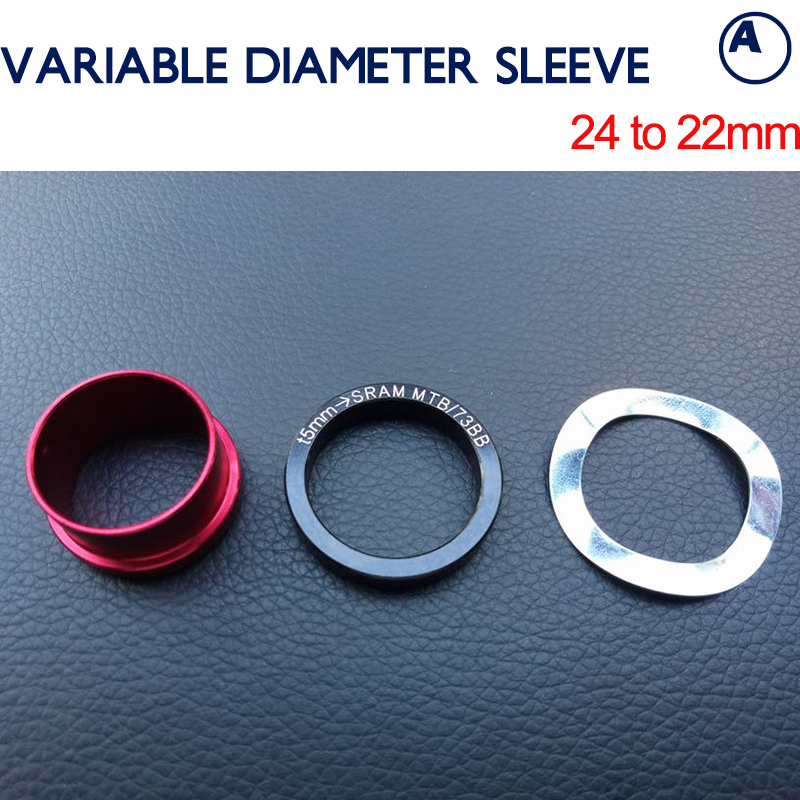 Bearing Kit 24 To 22 mm Conversion Rings Shimano to SRAM GXP Disc Middle Axis Variable Diameter Sleeve