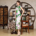 Women Vintage Chinese Long Traditional Cheongsam Dress Women's Satin Qipao Mini Cheongsam Flower  Slim Ladies One-piece Dress 8
