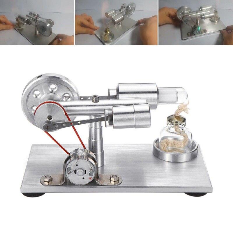 Jouet éducatif d'apprentissage précoce pour enfants monocylindre Stirling moteur modèle étudiant apprentissage physique Science enseignement bricolage jouets