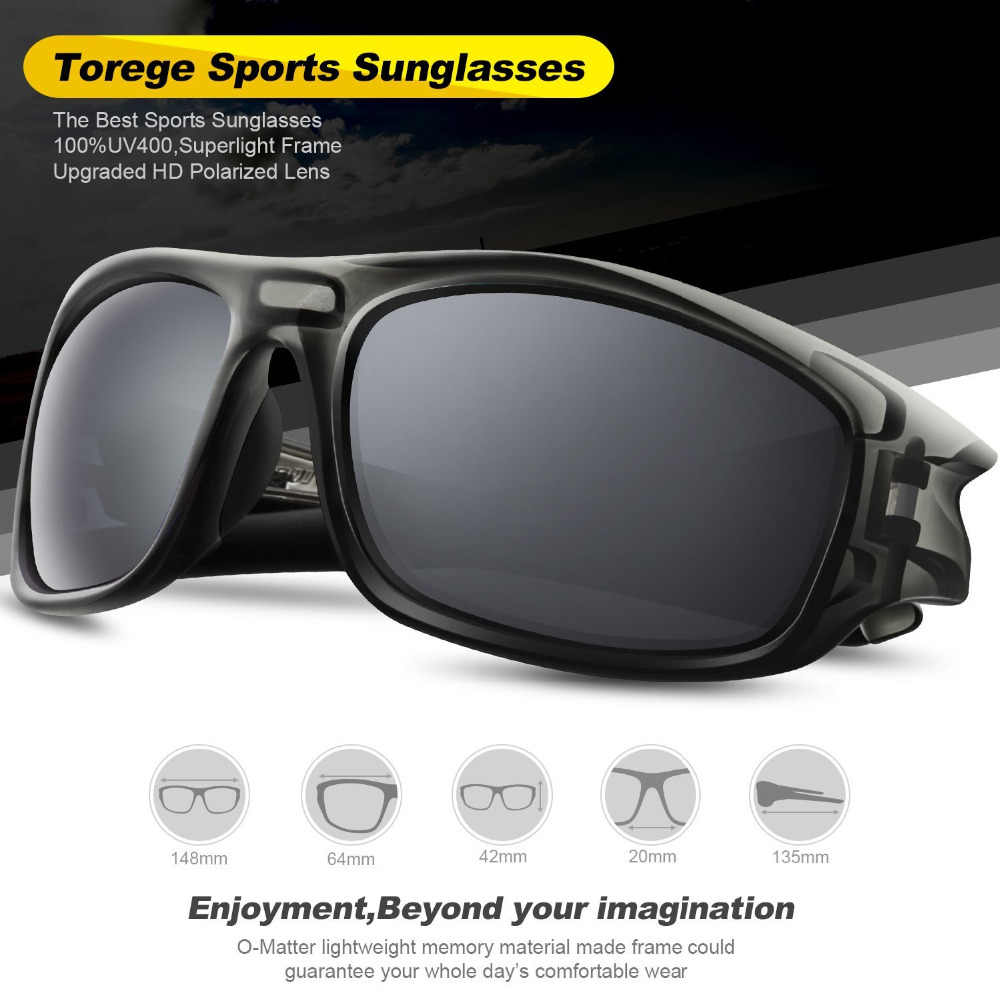 75c9025e81 TOREGE Polarized Unisex Sunglasses For Driving Golf TR90 Unbreakable Frame  Men s Fashion Eyewear Goggles Style UV400