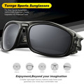 Outdoor Polarized Sports Sunglasses For Driving Running Fishing Golf TR90 Unbreakable Frame Men's Fashion Eyewear Goggles