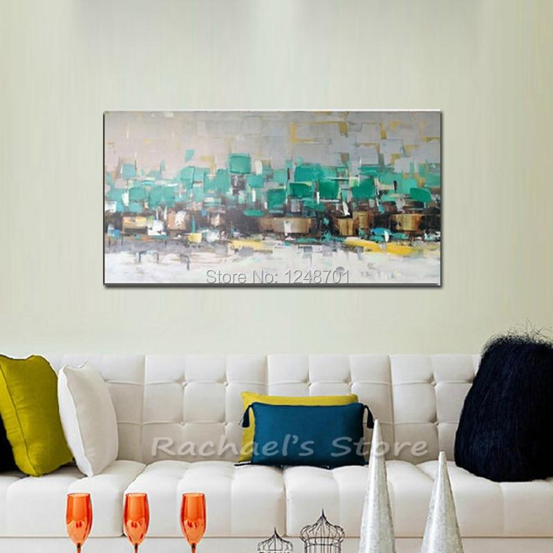 100% Handgeschilderde Nieuwe Grote Abstracte Schilderijen Op Canvas ...