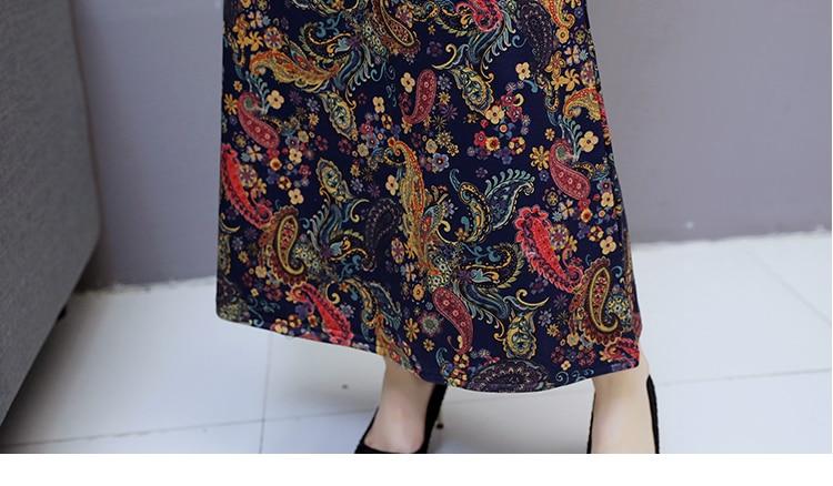 6912 Women Dress Elegant Long Sleeve Plus Size Print Vintage Velvet Warm Mom Maxi Dresses for Women Winter Dress Evening Party 2018 10