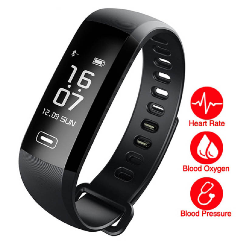 HEINO R5 PRO Smart Wrist Band Heart Rate Monitor Blood Pressure Oxygen Oximeter Sport Bracelet Watch Intelligent For iOS Android