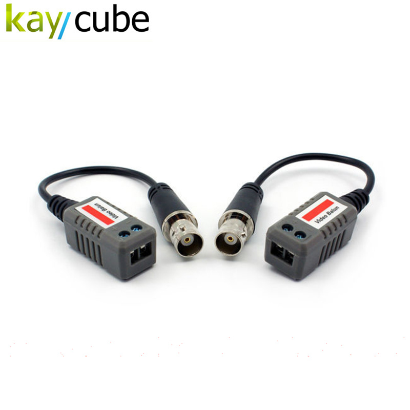 5Pairs 1 CH UTP Passive Video Balun BNC-F CCTV Video Transceiver With Cable Extended BNC Female kaycube разъём bnc под f