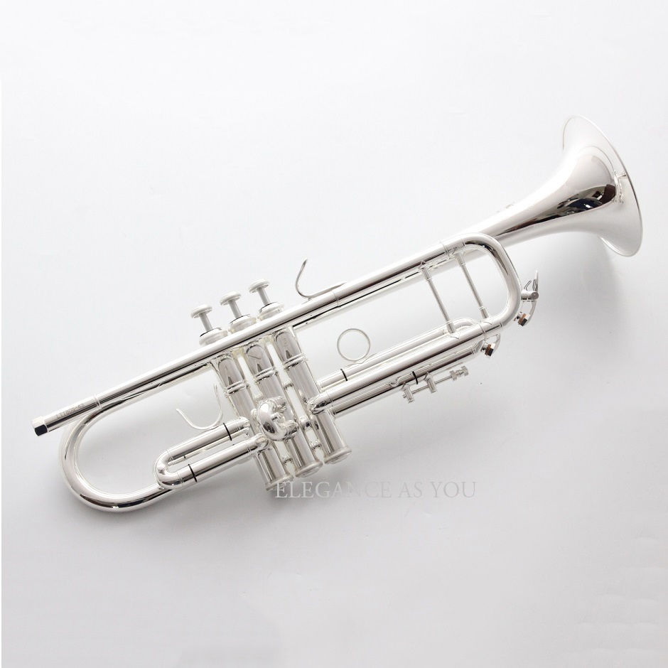 Brass Bb electrophoresis gold brand trumpet instrument Bb silver plated professional performance trumpet in B bag case solo band