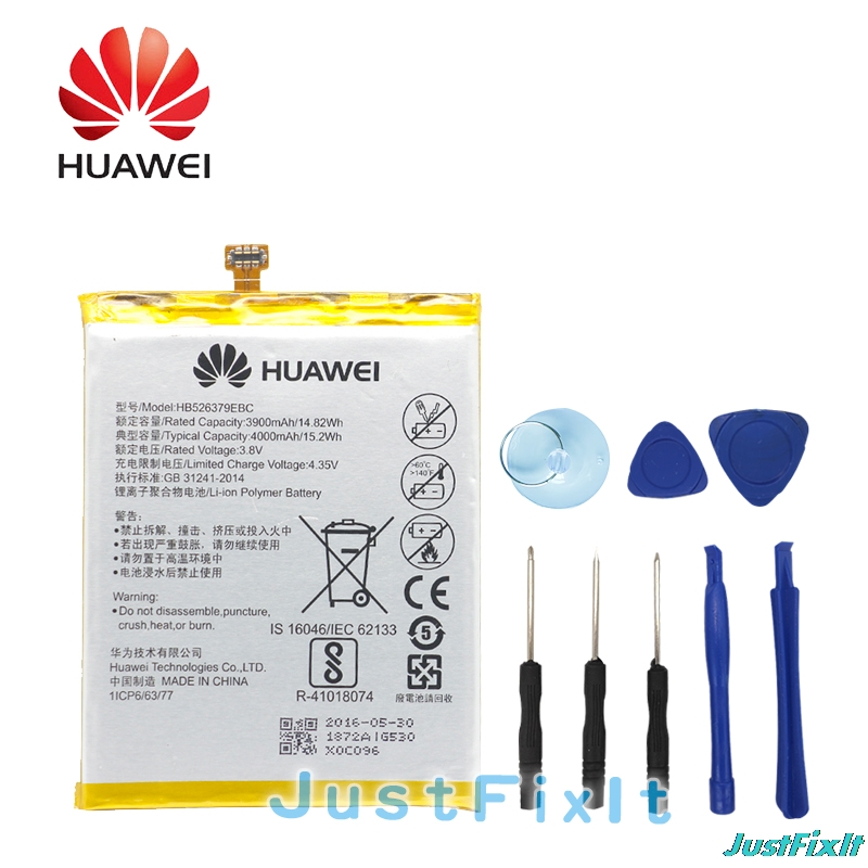 Enjoy 5 Honor 4c Pro 4000mah Replacement Batteries Free Tools Fast Color Diplomatic Hb526379ebc Hua Wei Original Phone Battery For Huawei Y6 Pro