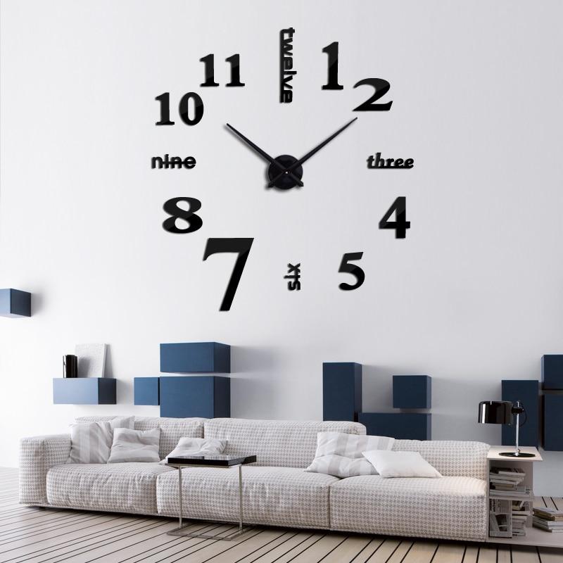 Heißer verkauf 3d wanduhr acryl spiegel diy uhren schlafzimmer - Wohnkultur - Foto 5