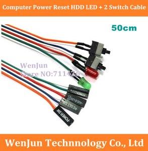 Image 1 - DHL/Fedex משלוח חינם 300 יח\חבילה איפוס מחשב מחשב כוח מקרה HDD LED + 2 החלף כבל מתאם