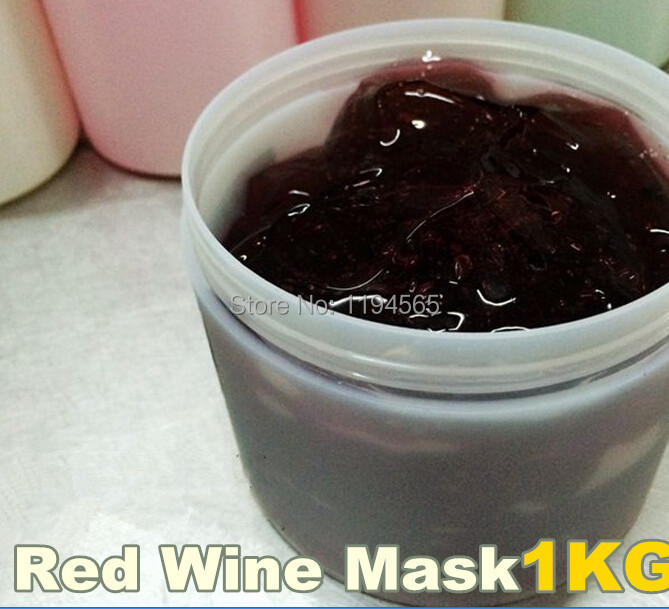 1KG Red Wine Gel Jelly Facial Mask Antioxidant Moisturzing Whitening Brighten Tone Age Spots Beauty Salon Equipment 1000ml 1KG 1kg sensitive skin chamomile mask gel beauty salon 1000ml ultra calm cooling soothes recuperate repair