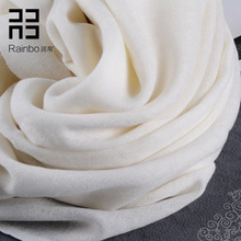 Quality 80 pure wool scarf female autumn and winter fashion ol elegant all-match white scarf