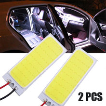 2 Pcs 12V Xenon HID Putih 36-COB LED Dome Peta Lampu Interior Mobil Lampu Panel(China)