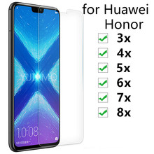 9H Tempered Glass For Huawei Honor 8x 7x 6x 5x 4x 3x Screen Protector for huawei 3 4 5 6 7 X Protective Honor8x