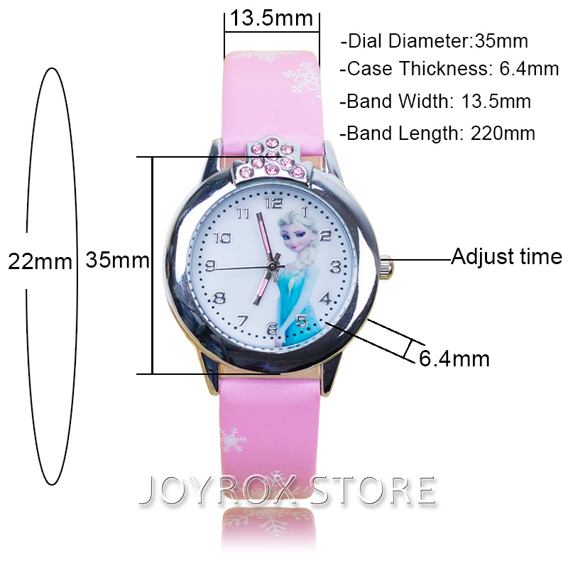 JOYROX Hot Princess Elsa Mønster Barn Watch Mote Crystal Cartoon - Barneklokker - Bilde 4