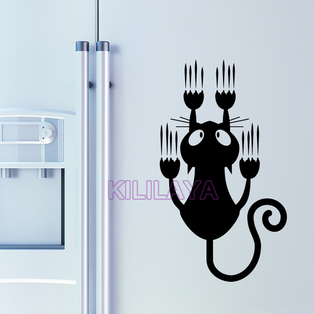 cat kitten funny vinyl wall stickers for fridge cars laptop wall