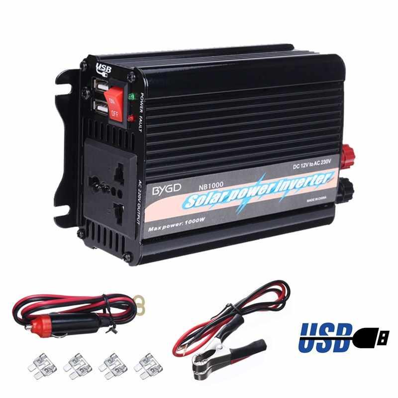 Portable double USB 2000 W Watt DC 12 V à AC 230 V voiture onduleur chargeur convertisseur adaptateur onde sinusoïdale modifiée