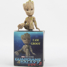 Exquisite Baby Groot For Figure Toys 7cm Galaxy Guard Original Model Tree Man Anime Toy marvel galaxy guard 2 groot small tree baby bluetooth audio s box model hand office w07