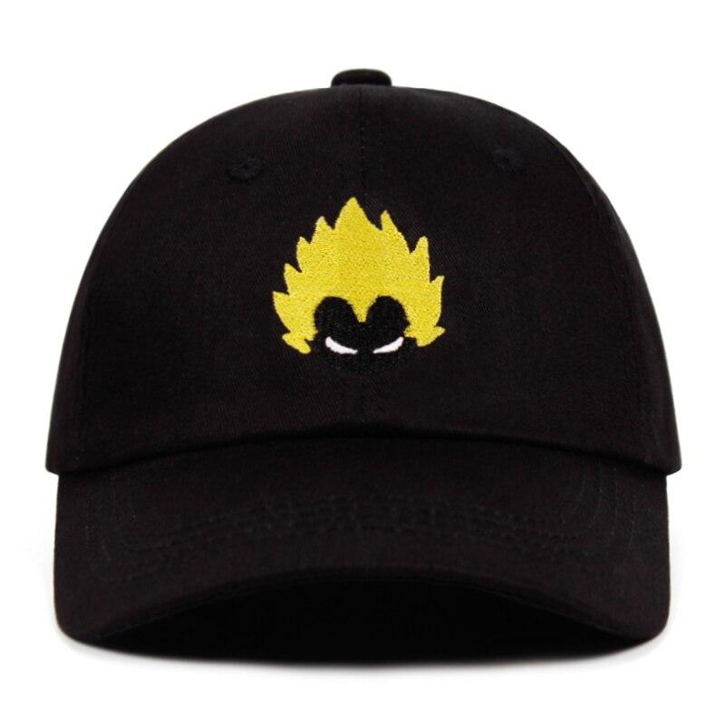 Dad Hat Dragon Ball Super-Saiyan Snapback-Caps Embroidery Anime Vegeta Goku Hip-Hop 100%Cotton