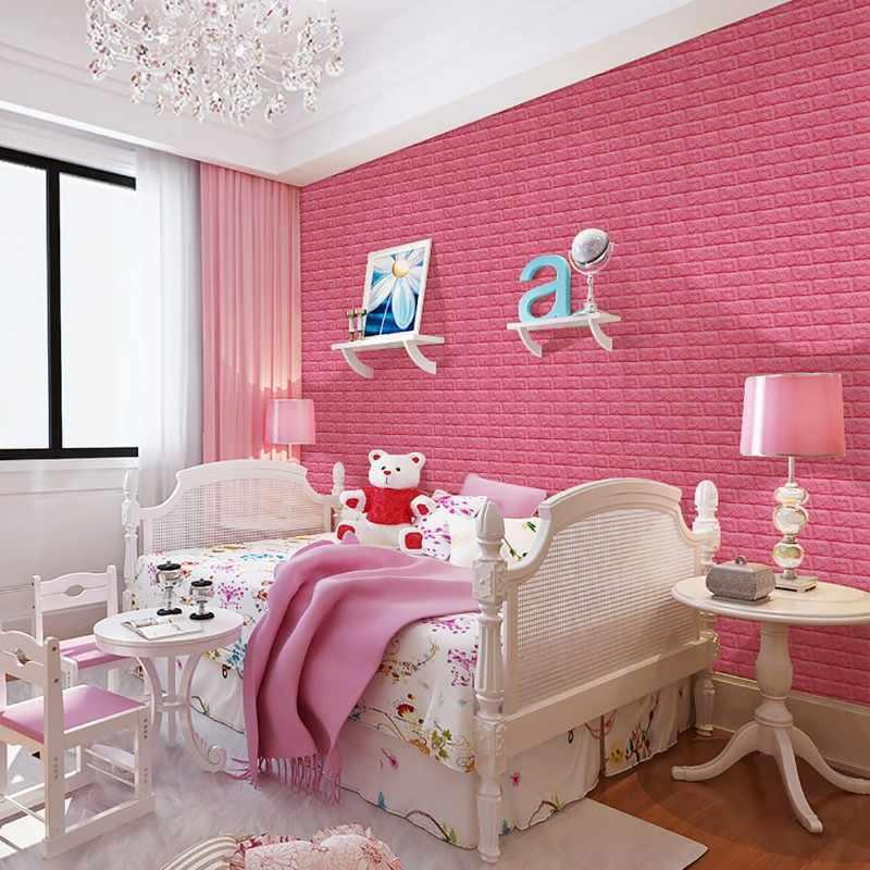 70X15 CM PE espuma 3D pegatinas de pared decoración del hogar papel pintado DIY pared decoración ladrillo sala de estar niños bebé pegatinas de pared de cocina para dormitorio