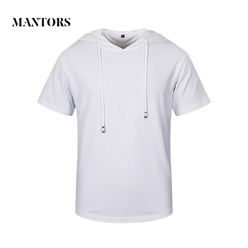 2018 الصيف الرجال هوديس الصلبة قصيرة - ملابس رجالية