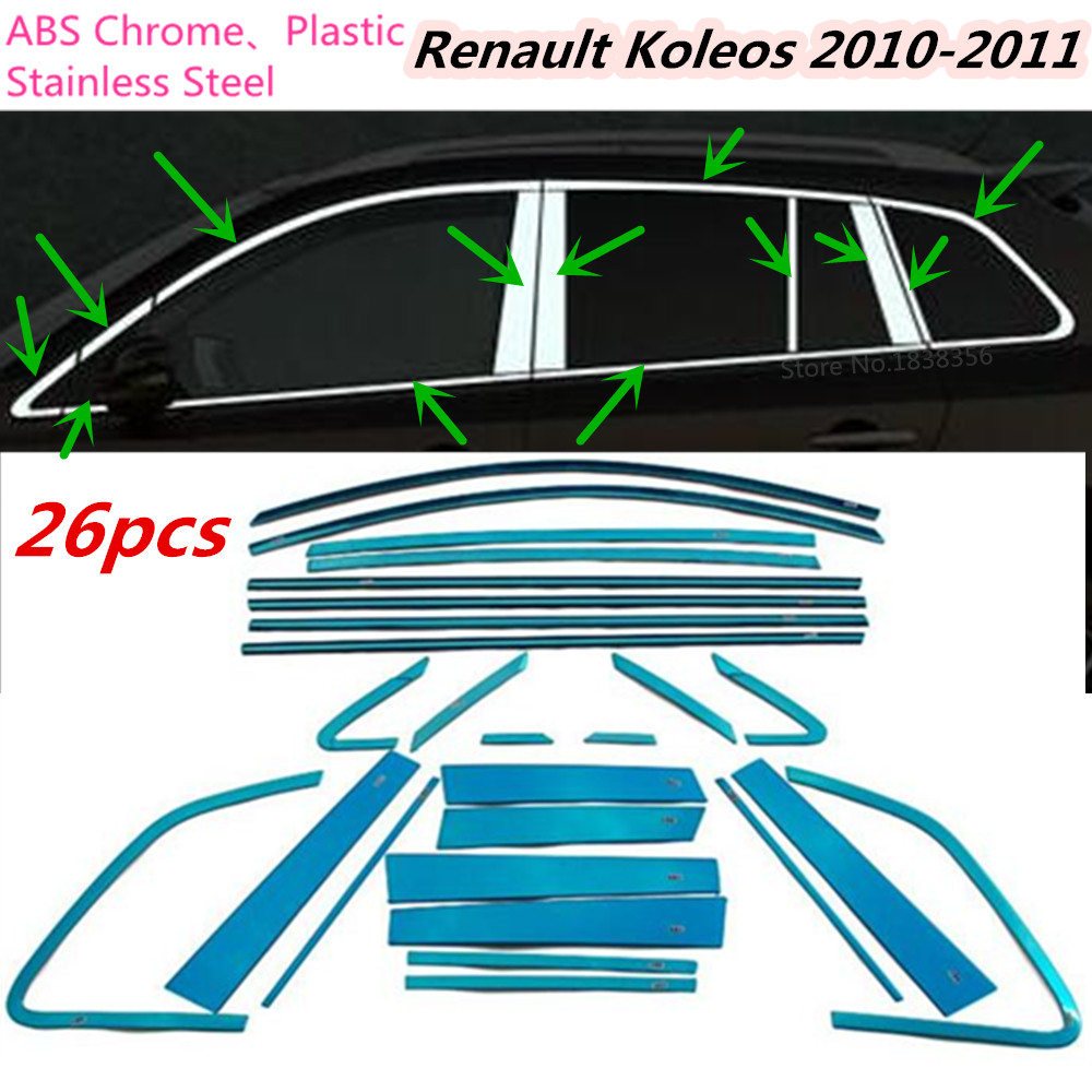 Stainless Steel Car Covers Door Lock Cover Case For Renault Koleos Wiring Diagram Top Sale Body Stick Glass Window Garnish Pillar Middle Column Trim Hoods