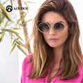 AOUBOU Brand Luxury Eye Cat Sunglasses Diamonds Mirror Sun Glasses for Women Stainless Steel Pink Polycarbonate Gafas Sol 7108