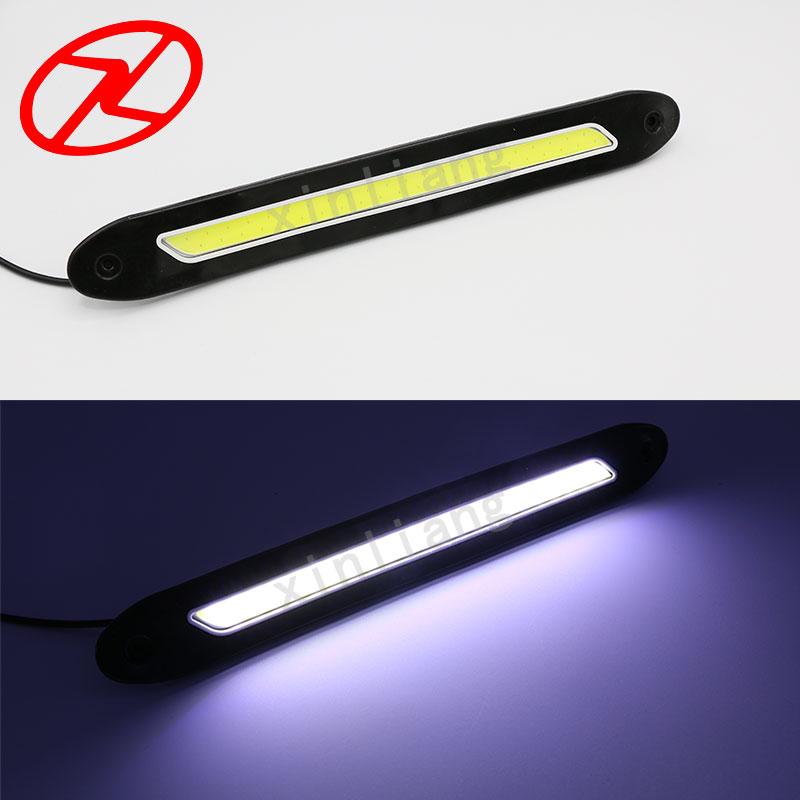 2 PCS fleksibel dipimpin daytime running lights 12 V COB 6000 K Putih - Lampu mobil - Foto 3