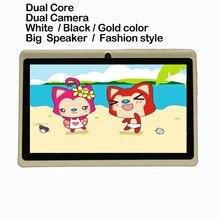 7 pulgadas Android 4.4 Tabletas pc Quad core 512 MB 8G WiFi Dual cámara Bluetooth 7 pulgadas Tablet pc Androide de la tableta 7 8 9 10 pulgadas