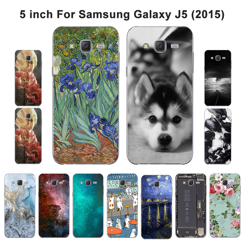 Galleria fotografica For Samsung Galaxy J5 2015 Phone Case 5.0'' Cover Soft Silicone Fundas Scenery Painted for J5 J5008 SM-J500F J500 J500F