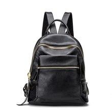 Новинка модные натуральная кожа женские рюкзаки для девочек-подростков книга школьная сумка поставки женские Mochilas feminina