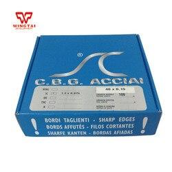 CBG ze stali węglowej wklęsłego powlekane rakiel do drukowania rakiel skrzydła z płatkami 40 # w Części i akcesoria do instrumentów od Narzędzia na