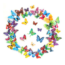 12pcs 3D PVC Magnet Butterflies DIY Wall Sticker for Home Party Wedding Refrigerator Decoration 12PCS/Bag Free Ship