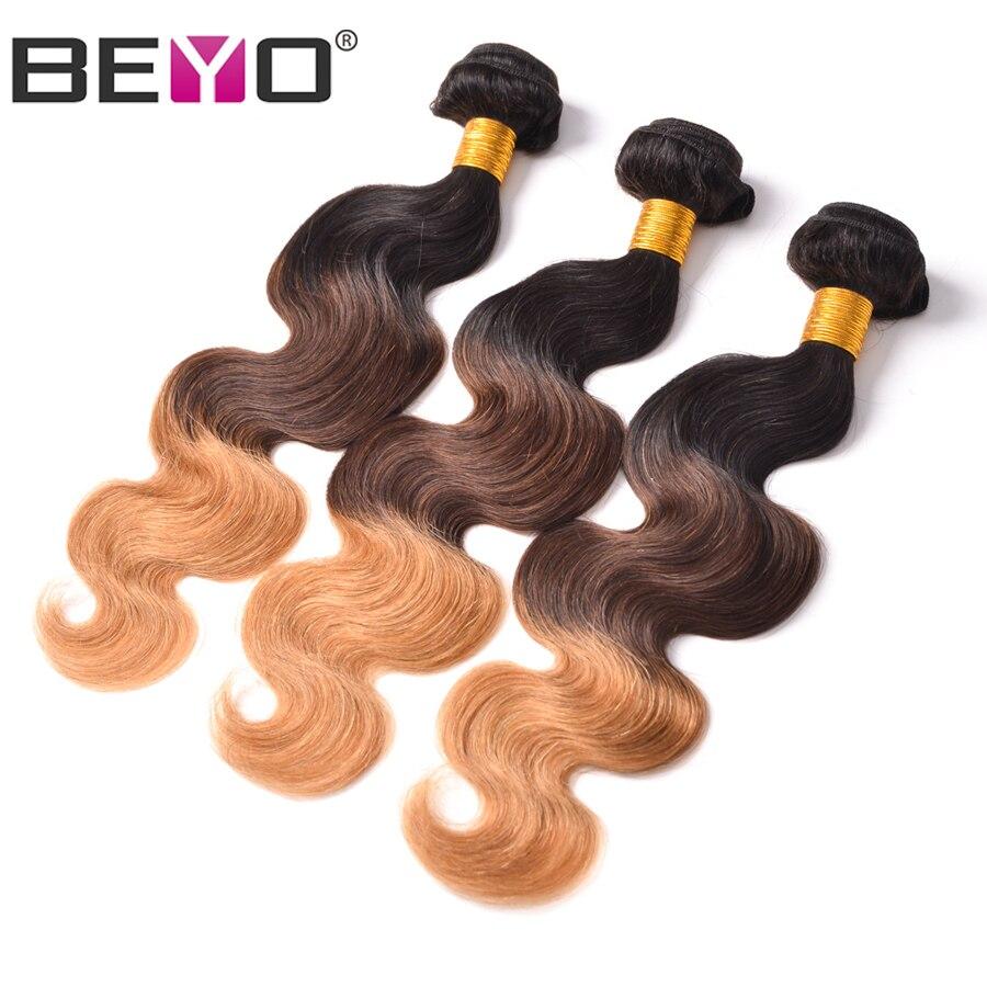 Beyo Ombre 3 Bundle Body Wave Deals Brazilian Hair Weave Bundles Human Hair Weave Bundles Non