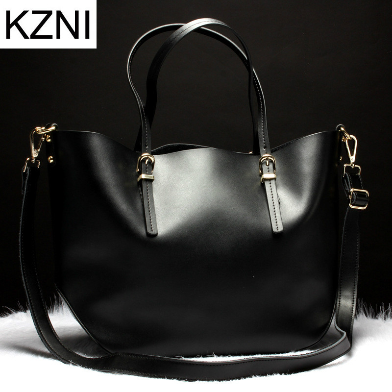 KZNI Genuine Leather Purse Crossbody Shoulder Women Bag Clutch Female Handbags Sac a Main Femme De Marque  L121011