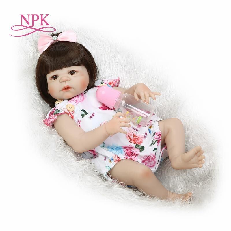 Hot 22 Lifelike Reborn Bonecas Handmade Silicone Reborn Baby Doll Full Body Vinyl Baby Fashion Children