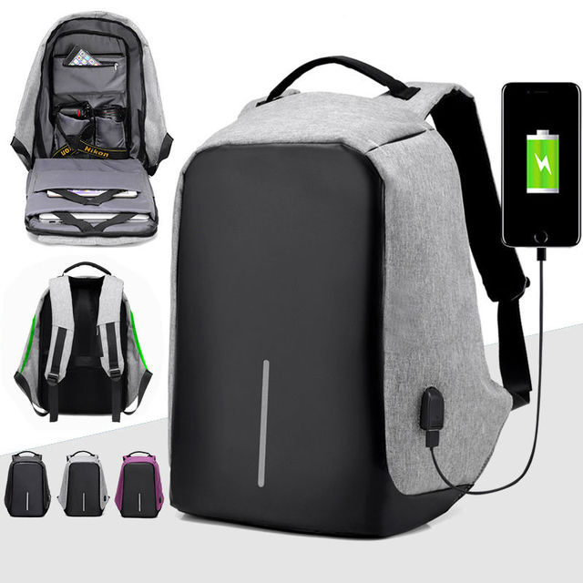 Multifunctional Laptop Bag Waterproof Anti Theft Sport Travel School Backpack With Usb Charge Port For