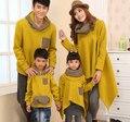 Hoodies Moletons Moda Casacos Listrados para as crianças da família/casais Roupas para o Pai Mãe Filho Filha (Amarelo/Preto cor) CHH85