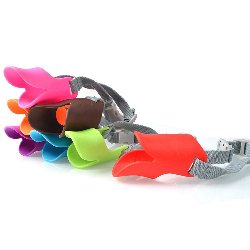 9 Colors Silicone Dog Muzzle Duck Mouth Style Dogs Muzzles
