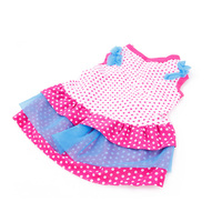 Lovely Pet Dog Dresses Skirt Tulle Clothing Polka Dots Dog Clothes Skirts Tiered Layered Dress Summer
