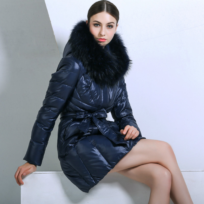 Winter Women Duck Down Jacket Long Warm Thick Snow Wear Outerwear details-1