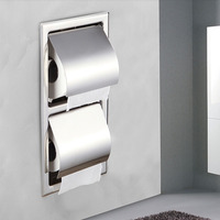 Wholesale And Retail Toilet Paper Holder Chrome Finish Wall Mounted Paper Rack