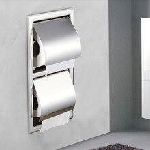 En gros et Au Détail de Papier Toilette Titulaire Finition Chromée Mur Papier Rack