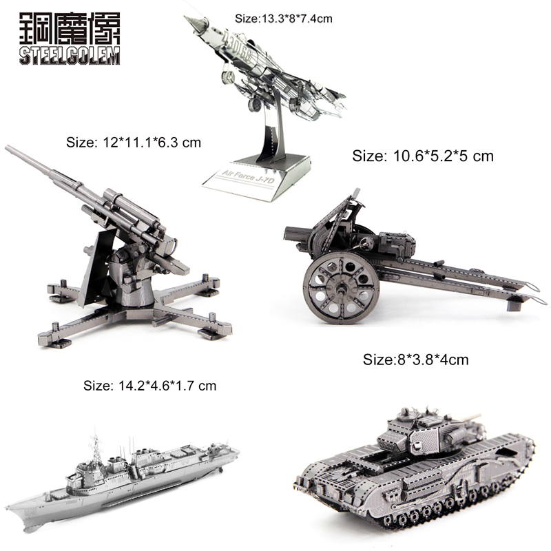 3D Metal Kits Puzzle Laser Cut Model Jigsaw DIY Assembly Adult Children Birthday Best Gifts Educational