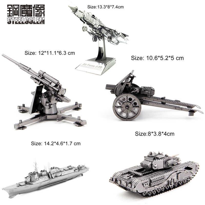 Puzzel 3D Metalen Kits Model DIY Laser Cut Montage Jigsaw Volwassen Kinderen Verjaardagscadeautjes Intellectuele Ontwikkeling Creatief Speelgoed